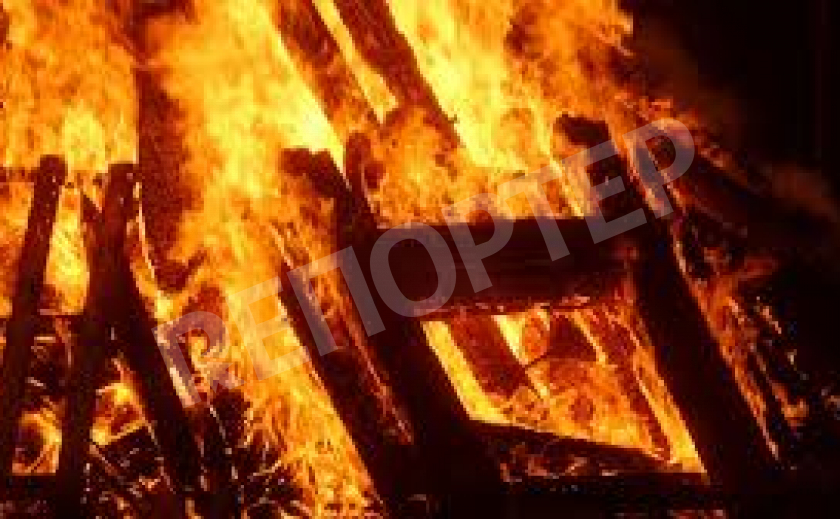 В Никопольском районе во время пожара пострадал хозяин дома