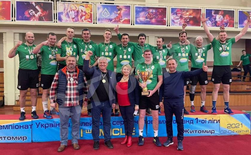 Волейболисты Никополя выиграли первую лигу