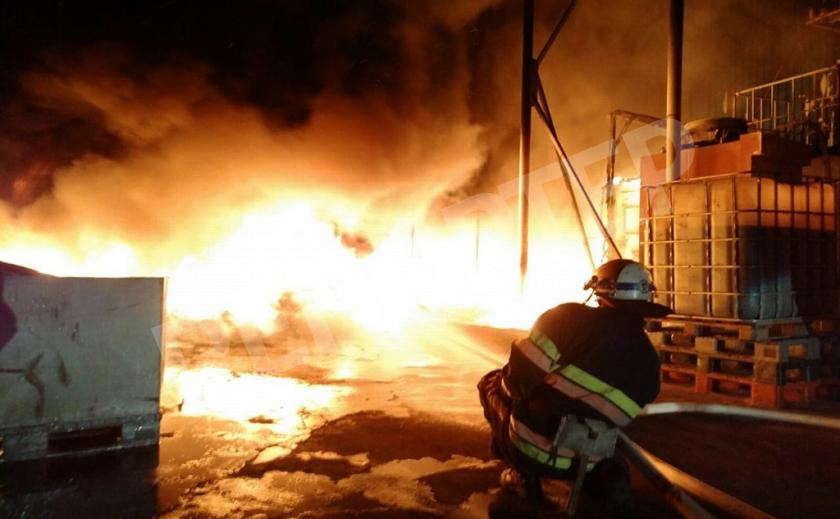 Большой пожар на заводе в Покрове